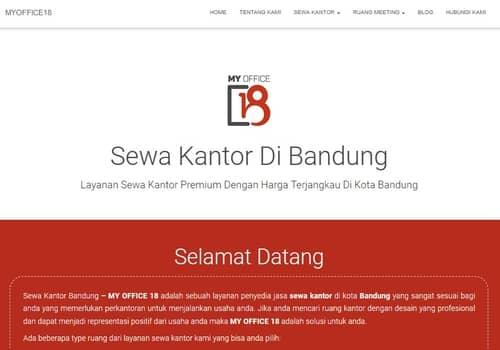 website sewa kantor bandung