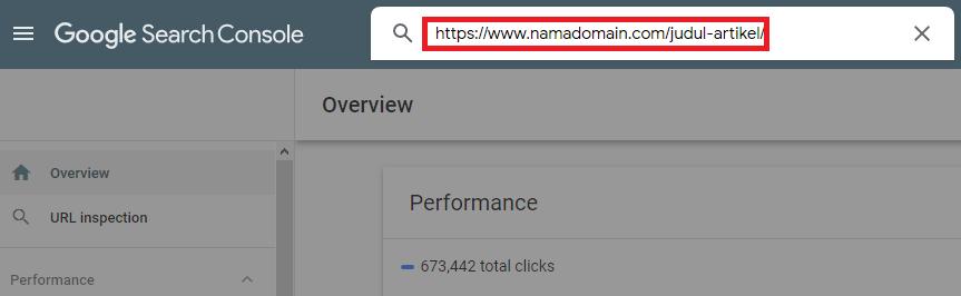 URL Inspection di Search Console