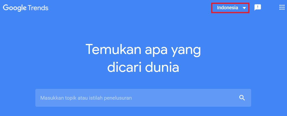 Target Negara Indonesia di Google Trends