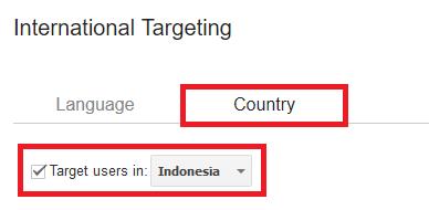 Memilih target users dari Indonesia