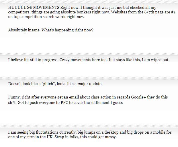 percakapan update algoritma Google terbaru Google