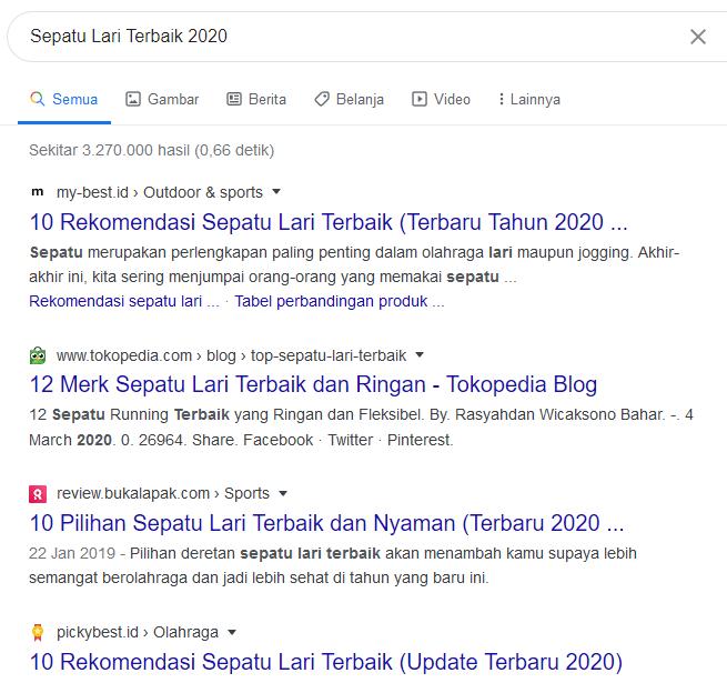 contoh pencarian