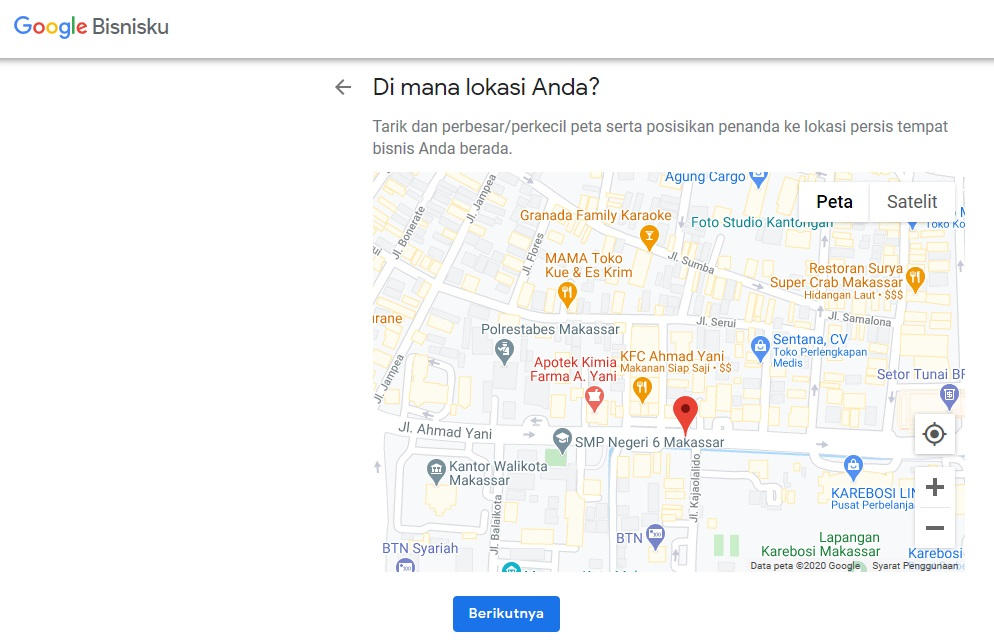 Lokasi di Peta Google Map
