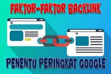 faktor backlink penentu peringkat di Google