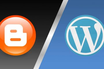platform blogspot atau wordpress
